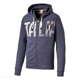 هودی مردانه پوما فیگک Puma Figc Italia Azzurri Zipthrough 74694704