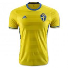 پیراهن اول تیم ملی سوئد ویژه یورو Sweden Euro 2016 Home Soccer Jersey