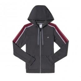 هودی زنانه آدیداس اسنشالز 3 استرایپس هودد ترک تاپ Adidas Essentials 3-Stripes Hooded Track Top