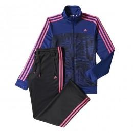 ست گرمکن و شلوار زنانه آدیداس اسنشالز 3 استرایپس نیت آل اور پرینت Adidas Essentials 3-Stripes Knit Allover Print