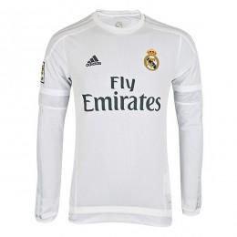 پیراهن اول رئال مادرید آستین دار Real Madrid 2015-16 Home Soccer Jersey
