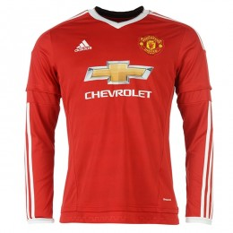 پیراهن اول منچستر یونایتد آستین دار Manchester United 2015-16 Home Soccer Jersey