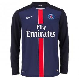 پیراهن اول پاری سن ژرمن آستین دار Paris Saint-Germain Home 2015-16 Soccer Jersey