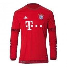 پیراهن اول بایرن مونیخ آستین دار Bayern Munich Home Soccer Jersey Long Sleeve 2015-2016