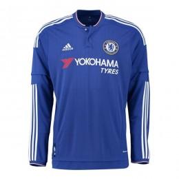 پیراهن اول چلسی آستین دار Chelsea Home Soccer Jersey Long Sleeve 2015-2016