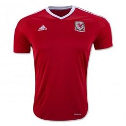 پیراهن اول تیم ملی ولز ویژه یورو Wales Euro 2016 Home Soccer Jersey
