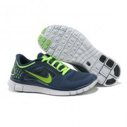 کتانی نایک فری ران مردانه Nike Free Run 3 Blue Fluorescent GreenNike