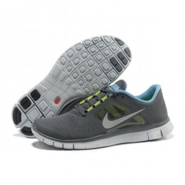 کتانی نایک فری ران مردانه Nike Free Run 3 Grey Blue