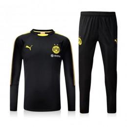 ست گرمکن و شلوار دورتموند Puma Dortmund 2017-18 Training Suit Black