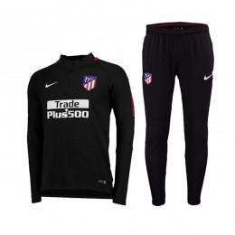 ست گرمکن و شلوار اتلتیکومادرید Nike Atleticos Madrid 2017-18 Training Suit Black