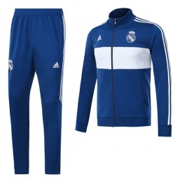 ست گرمکن شلوار رئال مادرید آبی Adidas Real Madrid 2017-18 Tracksuits Blue