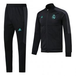 ست گرمکن شلوار رئال مادرید مشکی Adidas Real Madrid 2017-18 Tracksuits Black