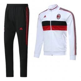 ست گرمکن شلوار آث میلان قرمز سفید Adidas Ac Milan 2017-18 Tracksuits Red-White