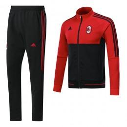 ست گرمکن شلوار آث میلان قرمز مشکی Adidas Ac Milan 2017-18 Tracksuits Black-Red