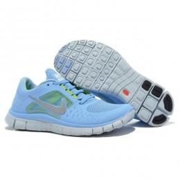 کتانی نایک فری ران زنانه Nike Free Run 3 Womens Blue Silver