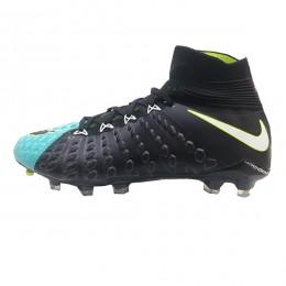 کفش فوتبال نایک هایپرونوم طرح اصلی مشکی ابی Nike Hypervenom