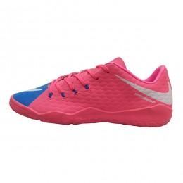 کفش فوتسال نایک هایپرونوم طرح اصلی صورتی ابی Nike Hypervenom