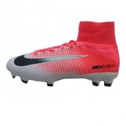 کفش فوتبال نایک مرکوریال طرح اصلی سفید صورتی Nike Mercurial