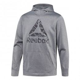 هودی مردانه ریبوک ورکت Reebok Workout Ready Fleece Hoodie Dark Grey Heather BR7781