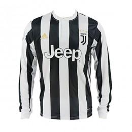 پیراهن اول یوونتوس آستین دار Juventus 2017-18 Home Soccer Jersey Long Sleeve