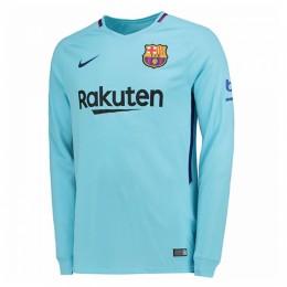 پیراهن دوم بارسلونا آستین دار Barcelona 2017-18 Away Soccer Jersey Long Sleeve