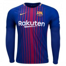 پیراهن اول بارسلونا آستین دار Barcelona 2017-18 Home Soccer Jersey Long Sleeve