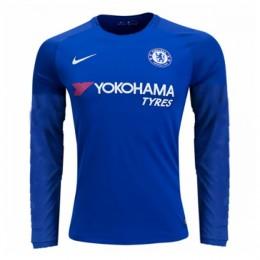 پیراهن اول چلسی آستین دار Chelsea 2017-18 Home Soccer Jersey Long Sleeve