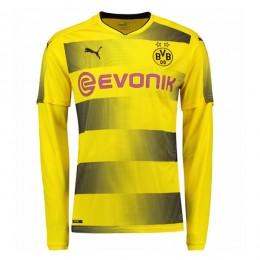 پیراهن اول دورتموند آستین دار Borussia Dortmund 2017-18 Home Soccer Jersey Long Sleeve