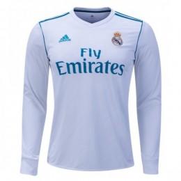 پیراهن اول رئال مادرید آستین دار Real Madrid 2017-18 Home Soccer Jersey Long Sleeve