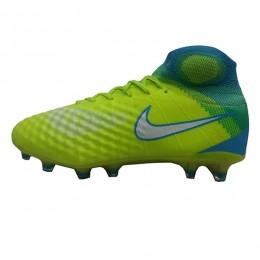 کفش فوتبال نایک مجیستا طرح اصلی زرد آبی Nike Magista