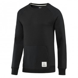 سوئیشرت مردانه ریبوک المنت Reebok Elements Quilted Crewneck Sweatshirt Black CD9280