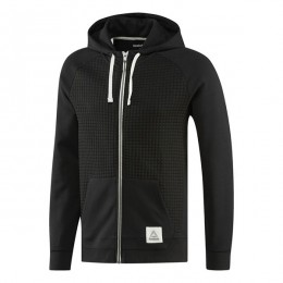 هودی مردانه ریبوک المنت Reebok Elements Quilted Full Zip Hoodie Black CD9285
