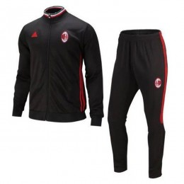 ست گرمکن شلوار آث میلان مشکی Adidas Ac Milan 2016-17 Tracksuits Black