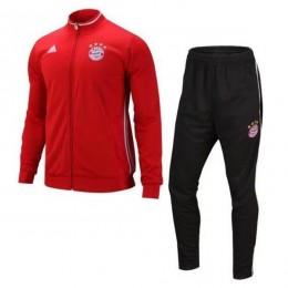 ست گرمکن شلوار بایرن مونیخ قرمز Adidas Bayern Munich 2016-17 Tracksuits Red
