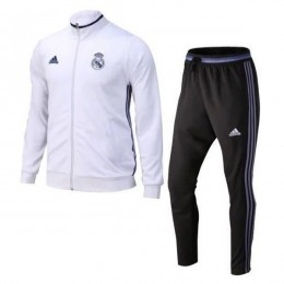 ست گرمکن شلوار رئال مادرید سفید Adidas Real Madrid 2016-17 Tracksuits