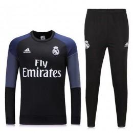 ست گرمکن شلوار رئال مادرید مشکی Adidas Real Madrid 2016-17 Tracksuits Black