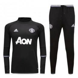 ست گرمکن شلوار منچستر یونایتد مشکی Adidas Manchester United 2016-17 Tracksuits Black