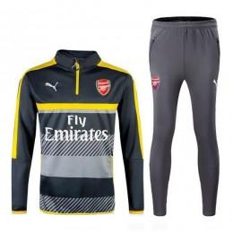 ست گرمکن و شلوار آرسنال مشکی طوسی Puma Arsenal 2016-17 Training Suit