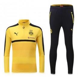 ست گرمکن و شلوار بروسیا دورتموند زرد Puma Dortmund 2016-17 Training Suit Yellow