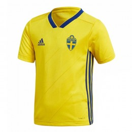 پیراهن اول تیم ملی سوئد ویژه جام جهانی Sweden 2018 World Cup Home Soccer Jersey