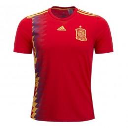 پیراهن اول تیم ملی اسپانیا ویژه جام جهانی Spain 2018 World Cup Home Soccer Jersey