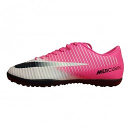 کفش فوتبال نایک مرکوریال طرح اصلی صورتی سفید Nike Mercurial
