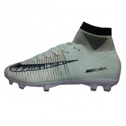 کفش فوتبال نایک مرکوریال طرح اصلی طوسی سفید Nike Mercurial