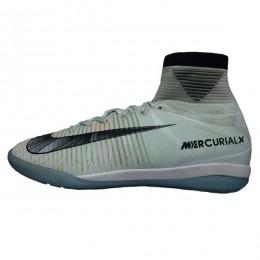 کفش فوتسال نایک مرکوریال طرح اصلی طوسی سفید Nike Mercurial