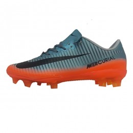 کفش فوتبال بچه گانه نایک مرکوریال طرح اصلی طوسی نارنجی Nike Mercurial