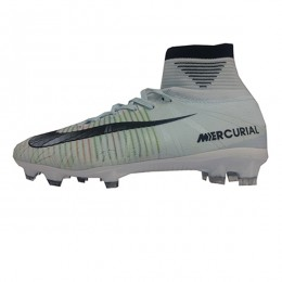کفش فوتبال بچه گانه نایک مرکوریال طرح اصلی سفید Nike Mercurial