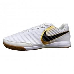 کفش فوتسال نایک تمپو ایکس لیگرا طرح اصلی سفید مشکی Nike TiempoX Ligera