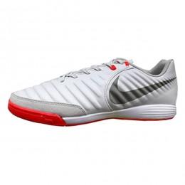 کفش فوتسال نایک تمپو ایکس لیگرا طرح اصلی طوسی قرمز Nike TiempoX Ligera