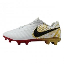 کفش فوتبال نایک تمپو سفید طلایی Nike Tiempo