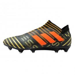 کفش فوتبال آدیداس نمزیز طرح اصلی مشکی نارنجی Adidas Nemeziz